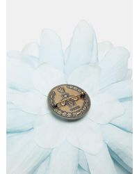 Gucci - Women's Silk Flower Brooch In Blue - Lyst