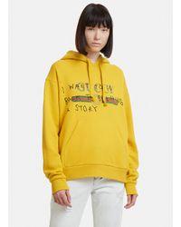 9706dc8aaeb Lyst - Gucci Coco Capitán Logo Sweatshirt in Yellow