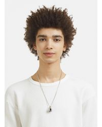 Jil Sander - Metallic Signet Necklace In Silver - Lyst