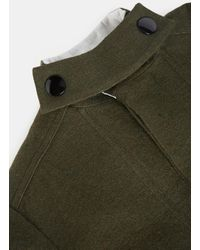 Marni - Contrast Vinyl Patch Military Wool Coat In Green for Men - Lyst