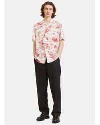 Gucci - Men's Donald Duck Print Bowling Shirt In White And Red for Men - Lyst