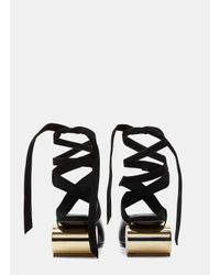 J.W.Anderson | Women's Cylinder Heeled Leather Ballerina Shoes In Black | Lyst