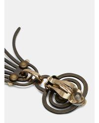 Lanvin - Metallic Women's Elvira Bashed Drop Pendant Earrings In Oxidised Gold - Lyst