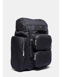Saint Laurent - Multicolor Men's Délavé Multi- Pocket Canvas Backpack In Black for Men - Lyst