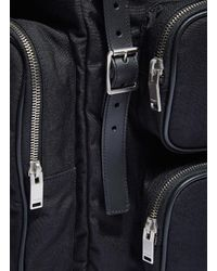 Saint Laurent - Multicolor Men's Délavé Multi- Pocket Canvas Backpack In Black for Men - Lyst
