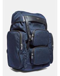 Saint Laurent - Multicolor Men's Délavé Multi- Pocket Canvas Backpack In Navy for Men - Lyst