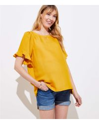 LOFT - Blue Maternity Denim Shorts In Mid Indigo Wash - Lyst