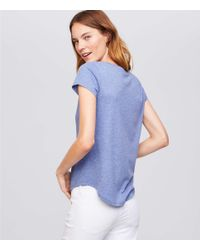 LOFT - Blue Thanks, Love! Tee - Lyst