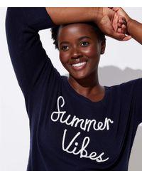 LOFT - Blue Plus Summer Vibes Sweater - Lyst