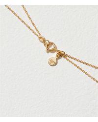 LOFT - Metallic Layered Stone Pendant Necklace - Lyst