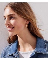 LOFT - Metallic Linked Circle Hoop Earrings - Lyst