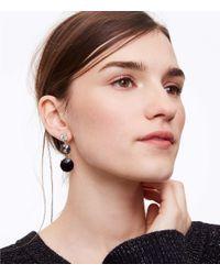 LOFT - Metallic Cast Linear Earrings - Lyst