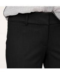 LOFT - Black Custom Stretch Trouser Leg Pants In Marisa Fit - Lyst