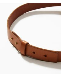 LOFT - Brown Knotted Leather Belt - Lyst