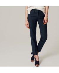 LOFT - Blue Doubleweave Riviera Cropped Pants In Marisa Fit - Lyst