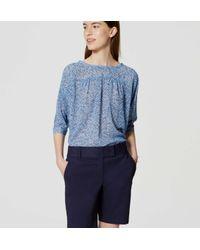 "LOFT - Blue Riviera Shorts With 8"" Inseam - Lyst"