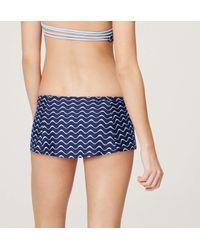 LOFT - Blue Beach Wave Skirt Bikini Bottom - Lyst