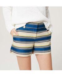 """LOFT - Blue Horizon Riviera Shorts With 4"""" Inseam - Lyst"""