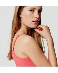 LOFT - Pink Clean Cami - Lyst