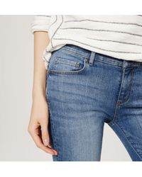 LOFT - Blue Flare Jeans In Mid Indigo Wash - Lyst