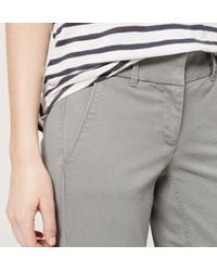 LOFT - Gray Cropped Skinny Chinos In Marisa Fit - Lyst