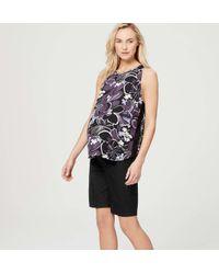 "LOFT - Black Petite Maternity Walking Shorts With 9"" Inseam - Lyst"