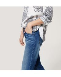 LOFT - Tall Boyfriend Jeans In Dark Cargo Blue Wash - Lyst