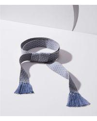 LOFT - Multicolor Diamond Fringe Tie Belt - Lyst