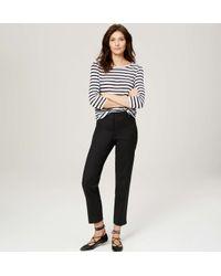LOFT - Black Petite Doubleweave Riviera Cropped Pants In Julie Fit - Lyst