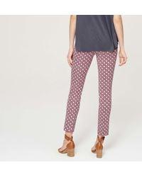 LOFT - Multicolor Petite Maternity Petalwork Essential Skinny Ankle Pants - Lyst