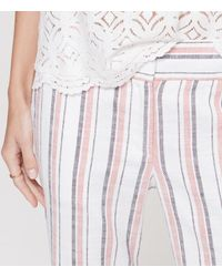 LOFT - Multicolor Petite Stripe Cropped Skinny Chinos In Marisa Fit - Lyst
