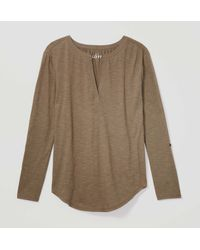 LOFT - Green Vintage Soft Split Neck Top - Lyst