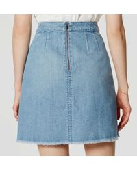 LOFT - Blue Denim Wrap Skirt - Lyst