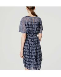 LOFT - Blue Petite Mosaic Tie Waist Dress - Lyst