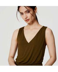 LOFT - Green Petite Blouson Dress - Lyst
