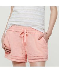 LOFT - Gray Lou & Grey Sightseer Shorts - Lyst