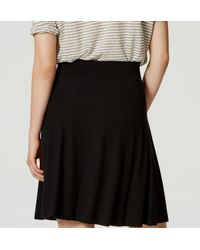 LOFT - Black Petite Knit Circle Skirt - Lyst