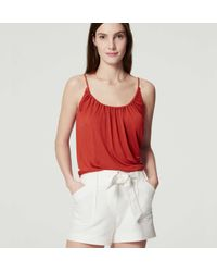 LOFT - Shirred Cami - Lyst