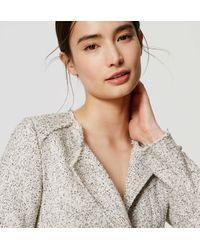LOFT - White Edged Tweed Jacket - Lyst