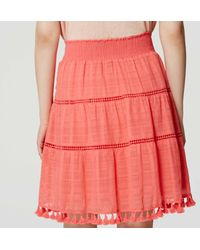 LOFT - Multicolor Tasseled Skirt - Lyst