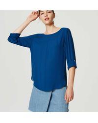 LOFT | Blue Petite Seamed Blouse | Lyst