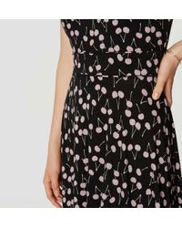 LOFT - Black Cherry Flare Dress - Lyst