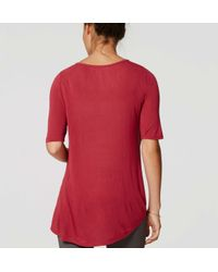 LOFT - Red Maternity Swing Tee - Lyst