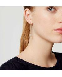 LOFT - Metallic Pearl Drop Earrings - Lyst
