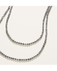 LOFT - Metallic Extra Long Beaded Necklace - Lyst