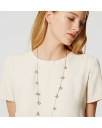 LOFT - Metallic Beaded Cluster Station Necklace - Lyst
