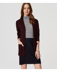 LOFT - Multicolor Open Pocket Cardigan - Lyst