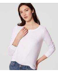 LOFT | White Shirttail Layering Tee | Lyst