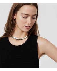 LOFT - Metallic Collar Necklace - Lyst