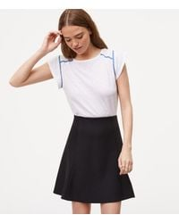 LOFT - Black Pull On Flippy Skirt - Lyst